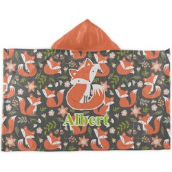 Fox Trail Floral Kids Hooded Towel (Personalized)