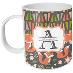 Fox Trail Floral Plastic Kids Mug (Personalized)