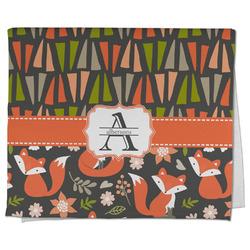 Fox Trail Floral Kitchen Towel - Full Print (Personalized)