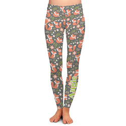 Fox Trail Floral Ladies Leggings - Large (Personalized)