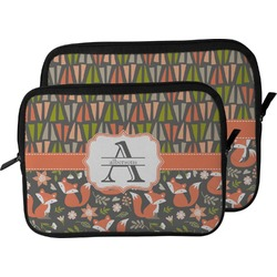 Fox Trail Floral Laptop Sleeve / Case (Personalized)