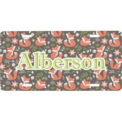 Fox Trail Floral Front License Plate (Personalized)