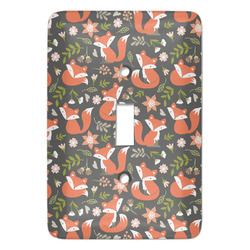Fox Trail Floral Light Switch Cover (Single Toggle) (Personalized)