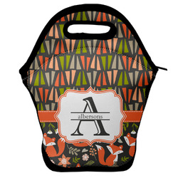 Fox Trail Floral Lunch Bag w/ Name and Initial