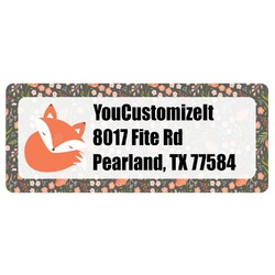 Fox Trail Floral Return Address Labels (Personalized)