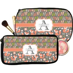 Fox Trail Floral Makeup / Cosmetic Bag (Personalized)