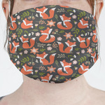 Fox Trail Floral Face Mask Cover (Personalized)