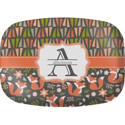 Fox Trail Floral Melamine Platter (Personalized)