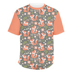 Fox Trail Floral Men's Crew T-Shirt (Personalized)