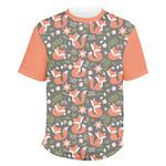 Fox Trail Floral Men's Crew T-Shirt (Personalized)