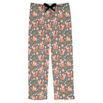 Fox Trail Floral Mens Pajama Pants (Personalized)