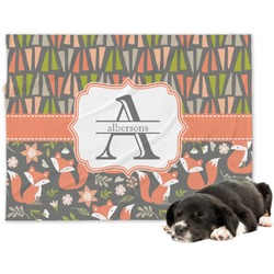 Fox Trail Floral Minky Dog Blanket (Personalized)