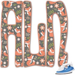 Fox Trail Floral Monogram Iron On Transfer (Personalized)