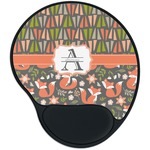 Fox Trail Floral Mouse Pad with Wrist Support