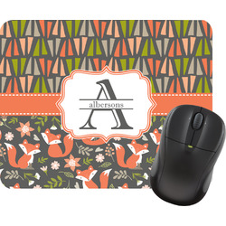 Fox Trail Floral Rectangular Mouse Pad (Personalized)