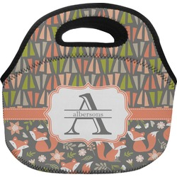 Fox Trail Floral Lunch Bag (Personalized)