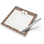 Fox Trail Floral Notepad (Personalized)