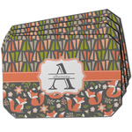 Fox Trail Floral Dining Table Mat - Octagon w/ Name and Initial