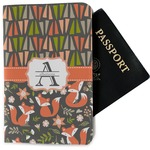 Fox Trail Floral Passport Holder - Fabric (Personalized)