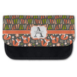 Fox Trail Floral Canvas Pencil Case w/ Name and Initial