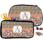 Fox Trail Floral Pencil / School Supplies Bag (Personalized)