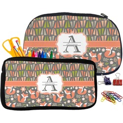 Fox Trail Floral Neoprene Pencil Case (Personalized)