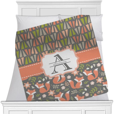 Fox Trail Floral Minky Blanket (Personalized)