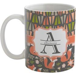 Fox Trail Floral Coffee Mug (Personalized)
