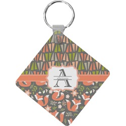 Fox Trail Floral Diamond Key Chain (Personalized)