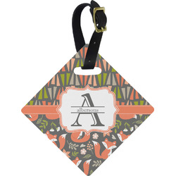 Fox Trail Floral Diamond Luggage Tag (Personalized)