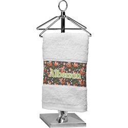 Fox Trail Floral Finger Tip Towel (Personalized)