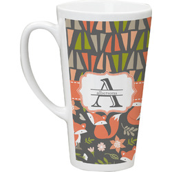 Fox Trail Floral Latte Mug (Personalized)