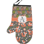 Fox Trail Floral Left Oven Mitt (Personalized)