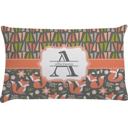 Fox Trail Floral Pillow Case (Personalized)