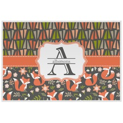 Fox Trail Floral Placemat (Laminated) (Personalized)
