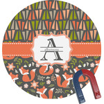 Fox Trail Floral Round Magnet (Personalized)