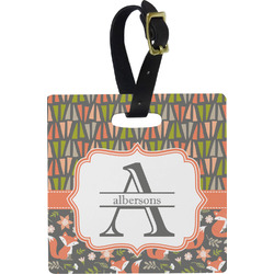 Fox Trail Floral Luggage Tags (Personalized)