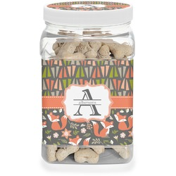 Fox Trail Floral Pet Treat Jar (Personalized)