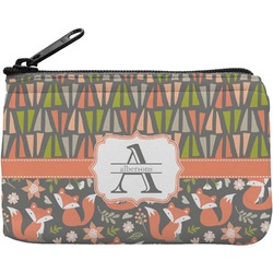 Fox Trail Floral Rectangular Coin Purse (Personalized)