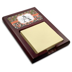Fox Trail Floral Red Mahogany Sticky Note Holder (Personalized)