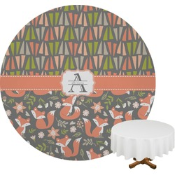 Fox Trail Floral Round Tablecloth (Personalized)