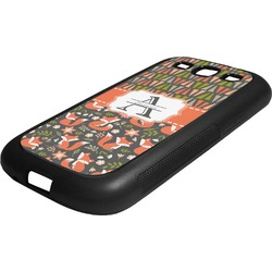 Fox Trail Floral Rubber Samsung Galaxy 3 Phone Case (Personalized)