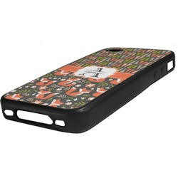 Fox Trail Floral Rubber iPhone Case 4/4S (Personalized)