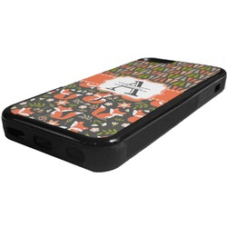 Fox Trail Floral Rubber iPhone 5C Phone Case (Personalized)