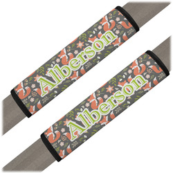Fox Trail Floral Seat Belt Covers (Set of 2) (Personalized)