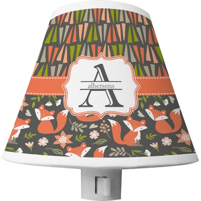 Fox Trail Floral Shade Night Light (Personalized)