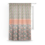 Fox Trail Floral Sheer Curtains (Personalized)