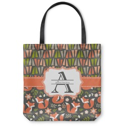 Fox Trail Floral Canvas Tote Bag (Personalized)