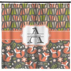 Fox Trail Floral Shower Curtain (Personalized)