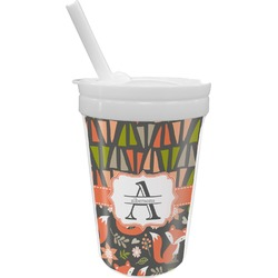 Fox Trail Floral Sippy Cup with Straw (Personalized)